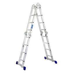 11 Ft. Aluminium Ladder 4 section 4 x 3 steps